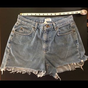 High Waisted Cut Off Jean Shorts